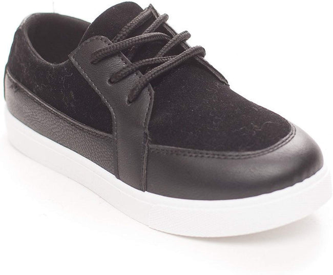 Soho Shoes Boys Casual Lace Up Suede Loafer Sneaker