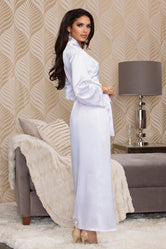 iCollection Long Satin Robe-7800