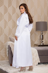 iCollection Long Satin Robe-7800X