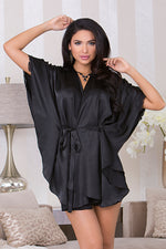 Batwing Sleeve Robe with Circle Hem - 7816