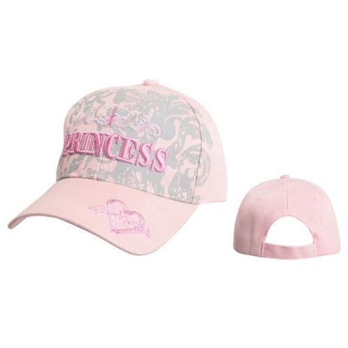"Women's Wholesale Cap C5215A (1 pc.) ""Princess"" with Heart & Arrow"