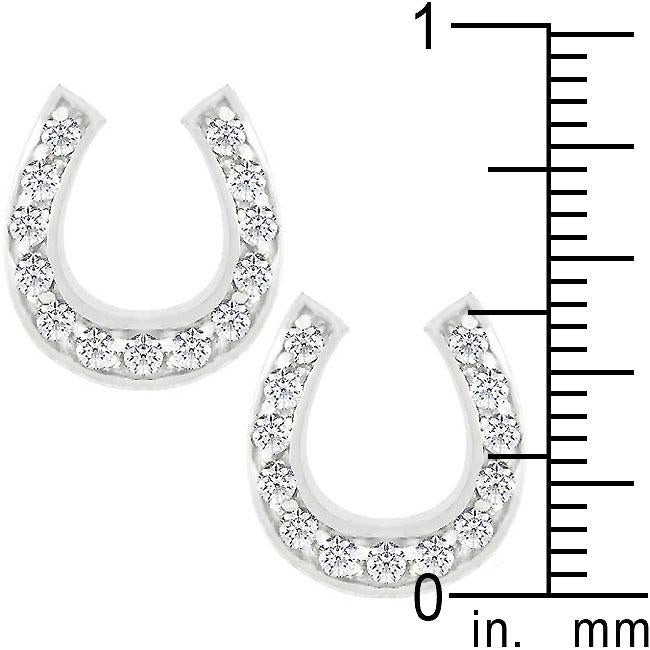 Horseshoe Stud Earrings         	 		         	         	 		         	         	 		                           E01233RS-C01