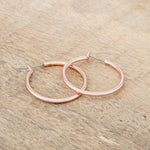 Small Rosegold Hoop Earrings         	 		         	         	 		                           E01619A-V00