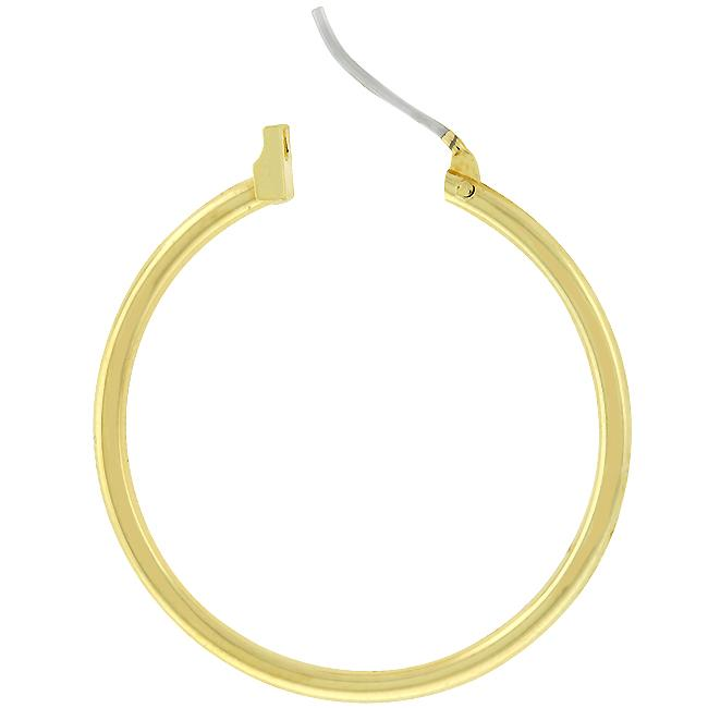 Golden Hoop Earrings         	 		         	         	 		         	         	 		                           E01619O-V00