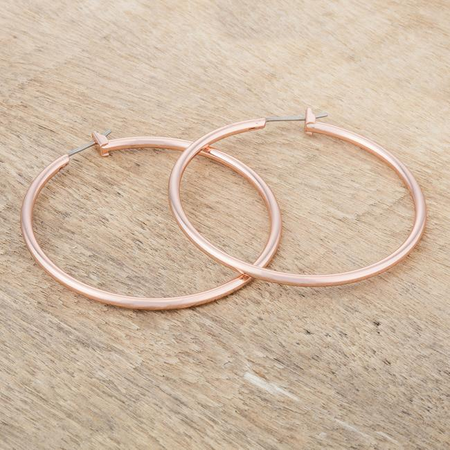 45mm Rose Gold Plated Hoop Earrings         	 		         	         	 		                           E01621A-V00