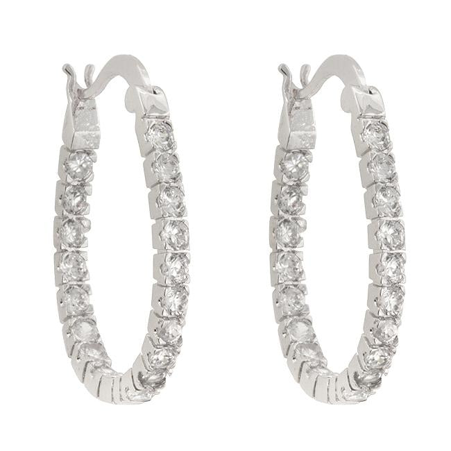 Inside-Out Hoop Earrings         	 		         	         	 		                           E01683R-C01