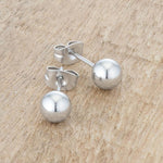 Tina Rhodium Sphere Stud Earrings         	 		         	         	 		         	         	 		                           E01887RV-V00-6MM