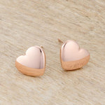 Janet Rose Gold Heart Stud Earrings         	 		         	         	 		         	         	 		                           E01891A-V00