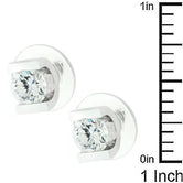 Brilliant Set Cubic Zirconia Earrings         	 		         	         	 		         	         	 		         	         	 		                           E20124R-S01