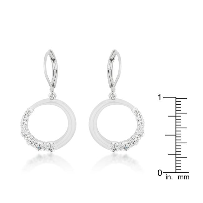 Graduated Cubic Zirconia Circle Earrings         	 		         	         	 		         	         	 		                           E50053R-C01