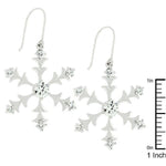 Silver Snowflake Dangle Earrings         	 		         	         	 		                           E50059R-C01