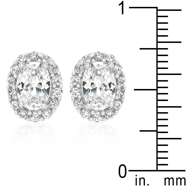 Clear Stone Estate Earrings         	 		         	         	 		                           E50161R-C01