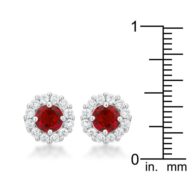 Bella Bridal Earrings in Ruby Red         	 		         	         	 		         	         	 		         	         	 		                           E50163R-C10