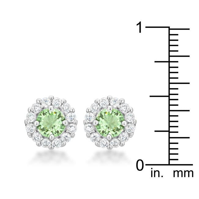 Bella Bridal Earrings in Peridot         	 		         	         	 		         	         	 		         	         	 		                           E50163R-C41