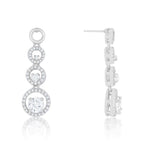 Graduated Drop Earrings         	 		         	         	 		         	         	 		                           E50168R-C01