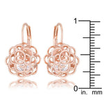 Maya 1.5ct CZ Rose Gold Rose Drop Earrings         	 		         	         	 		         	         	 		                           E50182A-S01
