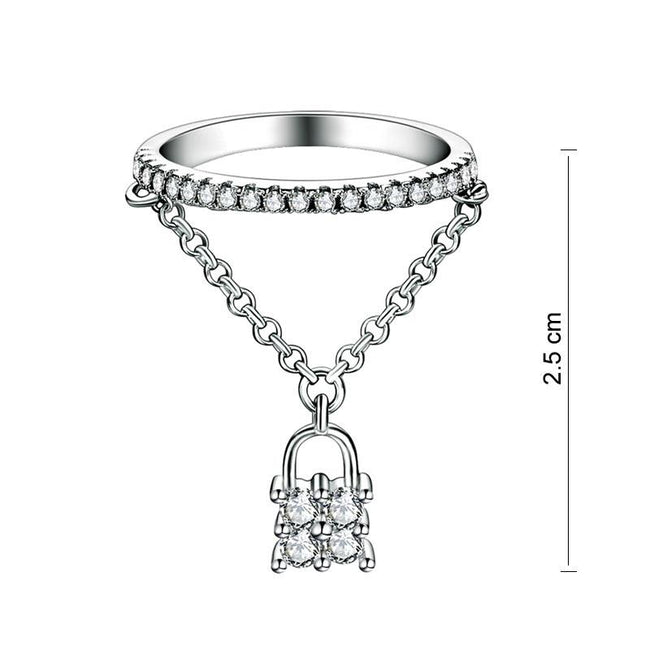 Solid 925 Sterling Silver Band Ring Dangle Purse Sparkling Lab Created Diamond for Lady Trendy Stylish XFR8280