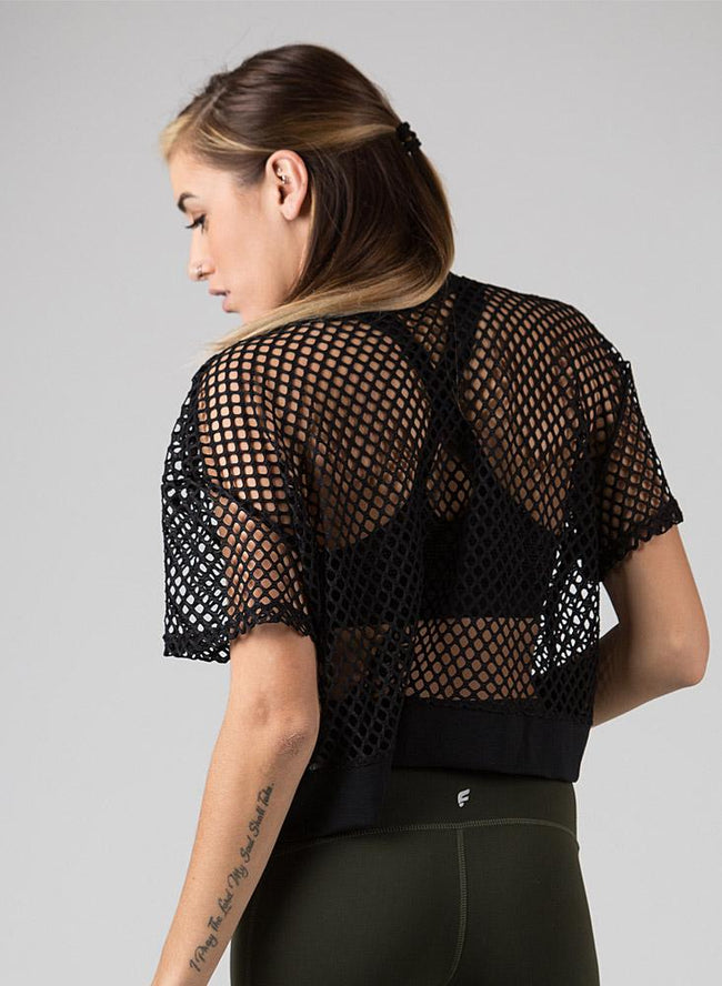 Abby Mesh Crop Top