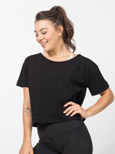 Dawn Off Shoulder Boxy Tee