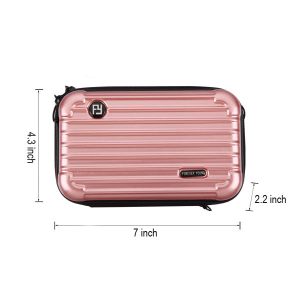 Rose Gold Small Suitcase Bag with Shoulder Strap (PR151) Phone BagBags