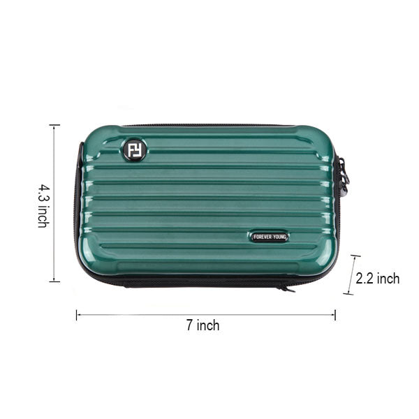 Forest Green Small Suitcase Bag with Shoulder Strap (PR152)