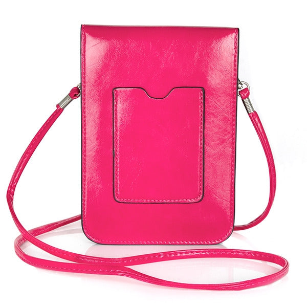Hot Pink Small Bag with Shoulder Strap (PR162)(with Package)