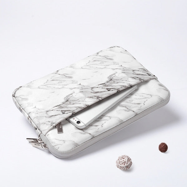 11 Inch Universal Marble Sleeve Bag