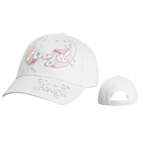 "Women's Baseball Hat C5218A (1 pc.) ""Angel"" with Wings & Stars"