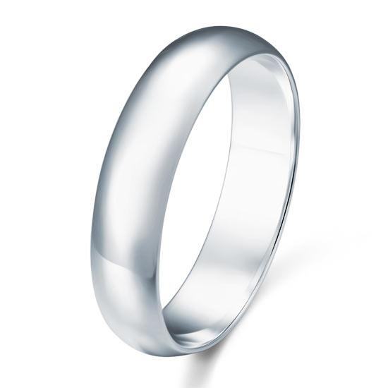 High Polished Plain Men's Solid Sterling 925 Silver Ring XFR8053