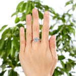 925 Sterling Silver Wedding Engagement Ring 3 Carat Created Diamond Jewelry XFR8209
