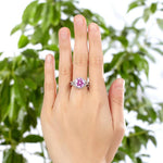 3 Carat Fancy Pink Created Diamond 925 Sterling Silver Wedding Engagement Luxury Ring Promise Anniversary XFR8242