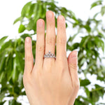 Solid 925 Sterling Silver Ring Crown Shape Lab Created Diamond for Lady Trendy Stylish XFR8275