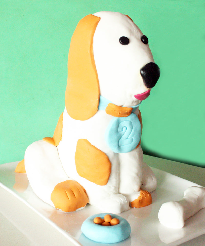 Puppy dog cake for a 2-year-old