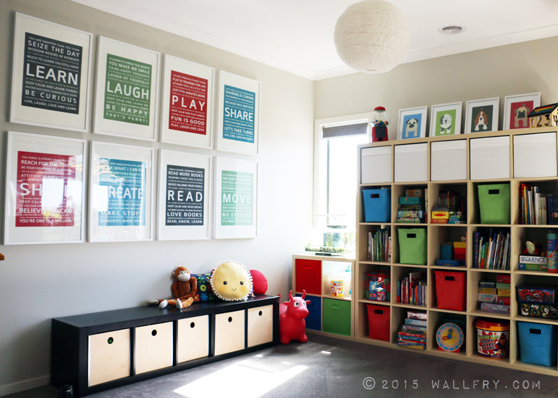 Practical playroom makeover