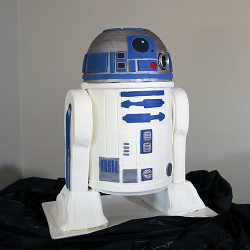 R2D2 cake with a hologram projector
