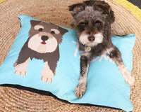 Custom Dog Bed. Personalized with name and picture of YOUR dog. Dog pillow in many sizes. Pet Bed, Dog beds by WallFry.