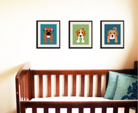 Labrador dog print. Puppy modern nursery artwork for baby & kids room and playroom decor theme.Dog theme by WallFry