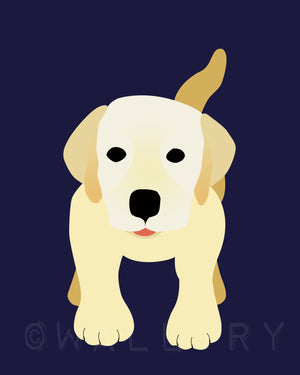 Labrador dog print. Puppy modern nursery artwork for baby & kids room and playroom decor theme. Dog theme art by WallFry