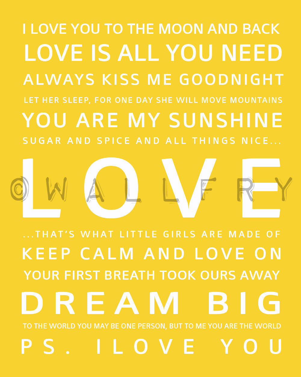 Inspiration typography print - LOVE – Wallfry Pty Ltd