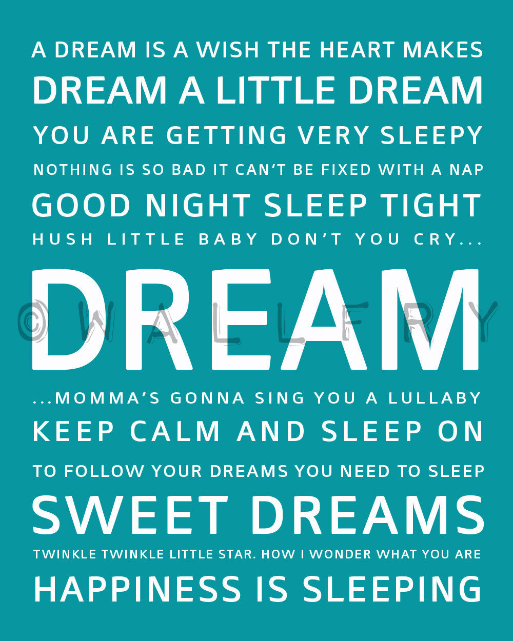 Inspiration Typography Print Dream Wallfry Pty Ltd