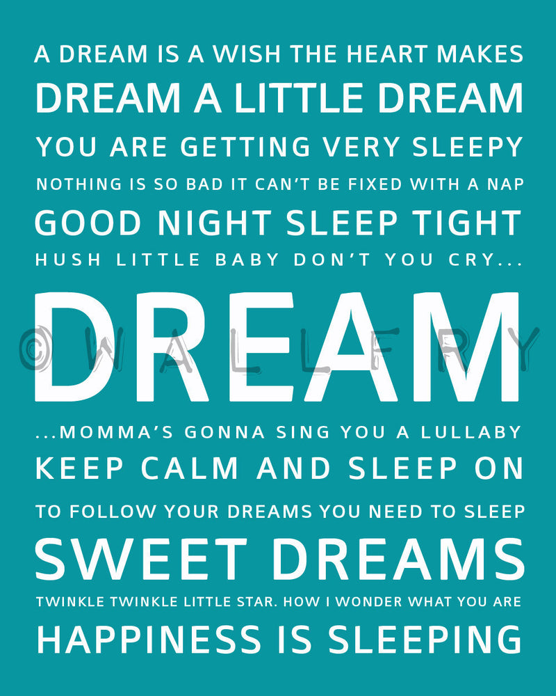 Dream quote print. Baby nursery decor. Art for children typography art for kids. Nursery wall quotes. Nursery quotes. Cliche print