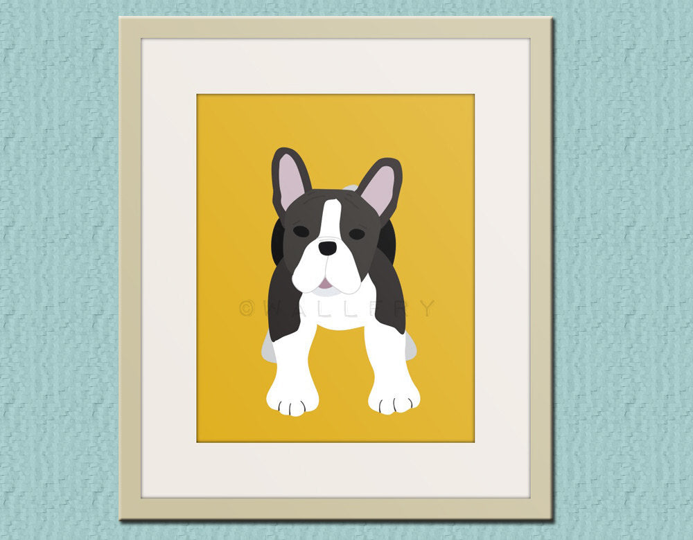 French Bulldog print. Dog art for children. Kids decor. Baby nursery art print. Puppy nursery decor. Frenchie print by WallFry