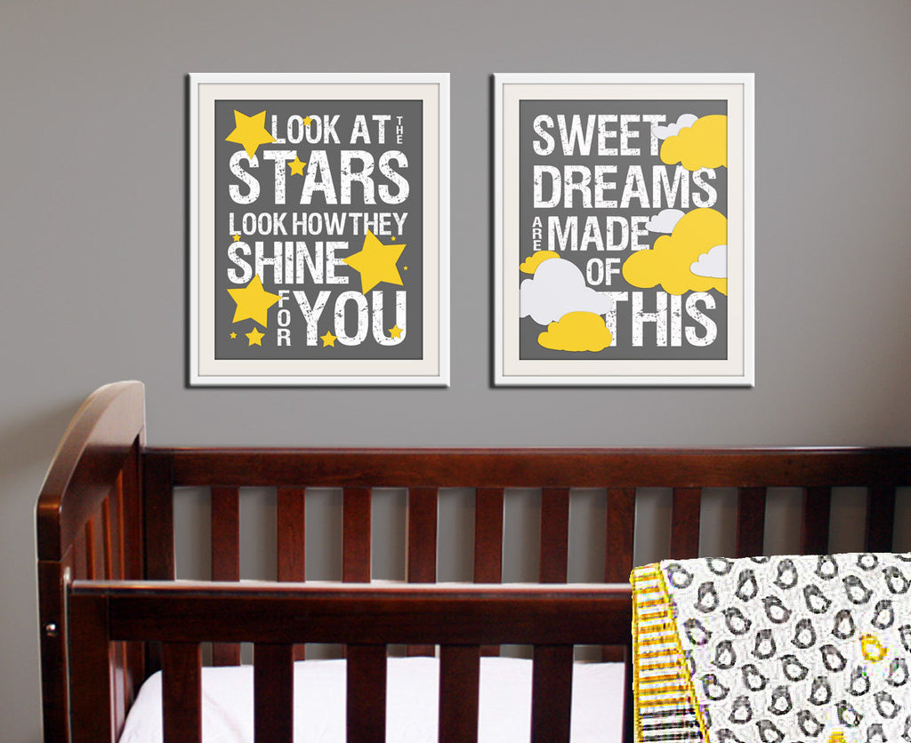 Sweet Dreams Nursery art print. Baby nursery decor inspirational print. Nursery wall quote typography Sweet dreams art print by WallFry