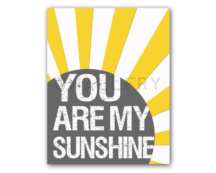 You Are My Sunshine Print Wallfry Pty Ltd