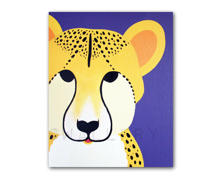 Cheetah Print for baby nursery. Mmodern safari artwork, jungle art, zoo animal for kids rooms and playrooms by WallFry