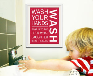 Bathroom art. Kids Bathroom rules. Bathroom prints bathroom art. Typography.  Bahtroom rules print by WallFry