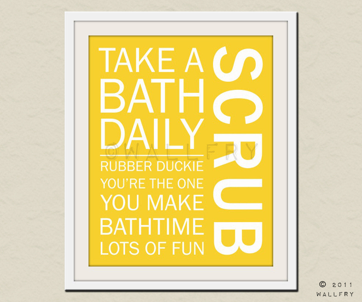 Bathroom typography rules - SCRUB – Wallfry Pty Ltd