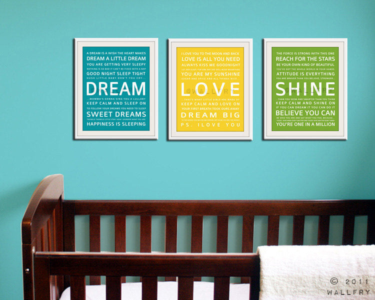 Nursery art print. Baby nursery decor. Art for children typography art for kids. Nursery wall quotes. Nursery quotes. Cliche print