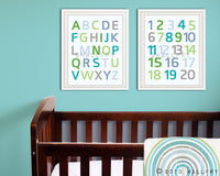 Modern Alphabet wall art. Nursery art ABC poster. Children artwork for playroom WallFry alphabet print by WallFry