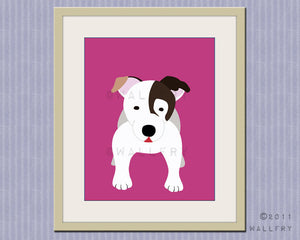 Jack Russell terrier dog print. Puppy nursery artwork for baby & kids room decor theme. Custom colors, Dog Series print by WallFry